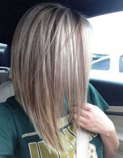 Long Stacked Bob Haircut Pictures | Hair Highlights In 2019 | Long Inside Stacked Long Haircuts (View 5 of 25)