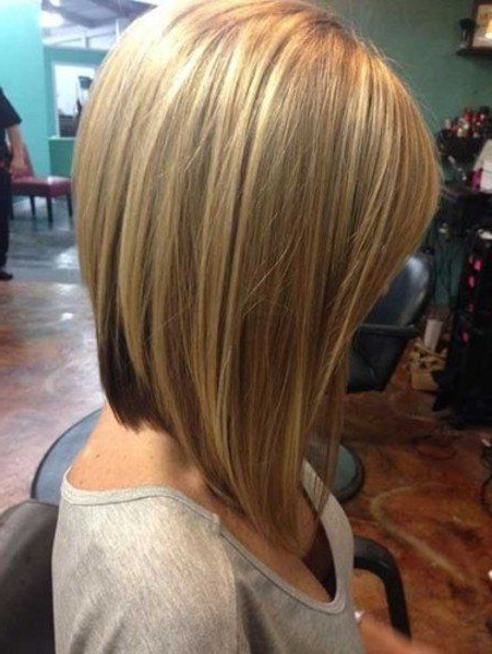 Long Stacked Bob Hairstyle Front And Back View Linehaircut Long Pertaining To Stacked Long Haircuts (View 20 of 25)