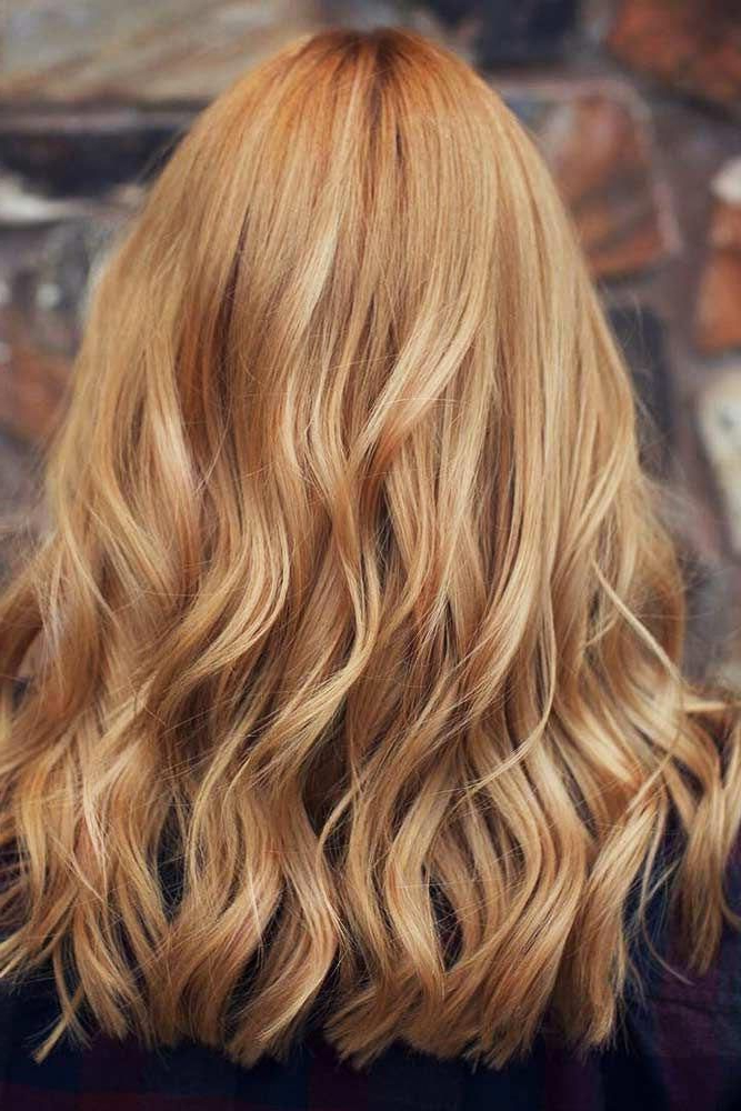 Long Textured Strawberry Blonde Hair #longhair #wavyhairstyle With Regard To Long Feathered Strawberry Blonde Haircuts (View 6 of 25)