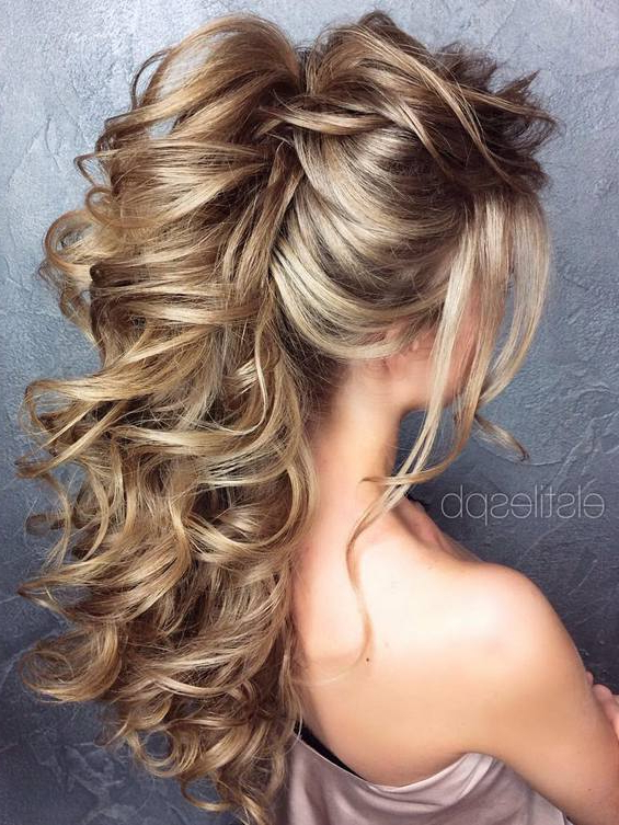 Long Wedding Hairstyles & Bridal Updos Via Elstile 33 | Deer Pearl Pertaining To Long Hairstyles For Wedding Party (View 16 of 25)