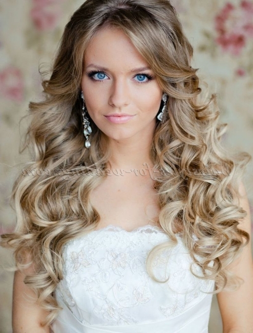 Long Wedding Hairstyles – Curly Wedding Hairstyle For Long Hair With Curled Long Hair Styles (View 19 of 25)
