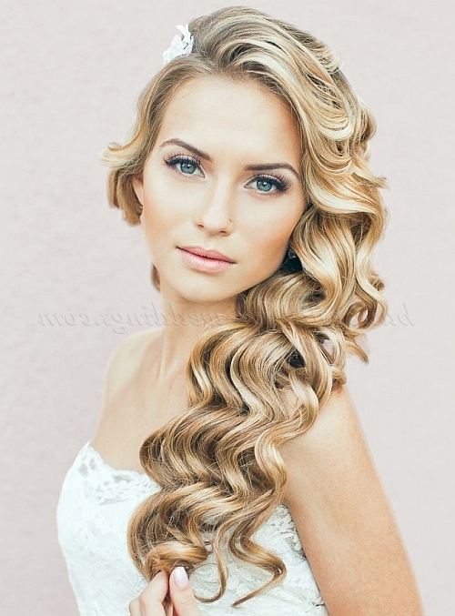 Long Wedding Hairstyles – Hair Down Wavy Wedding Hairstyle Inside Long Hairstyles For Weddings Hair Down (View 15 of 25)