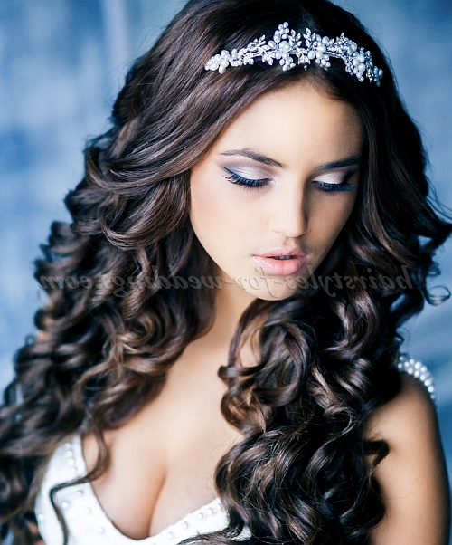 Long Wedding Hairstyles – Wavy Hair Down Hairstyle For Brides Regarding Brides Long Hairstyles (View 20 of 25)