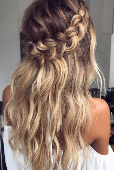 Loop Waterfall Braid | Style Your H?irs | Hair Styles, Prom Hair, Hair Pertaining To Cascading Curly Crown Braid Hairstyles (View 2 of 25)