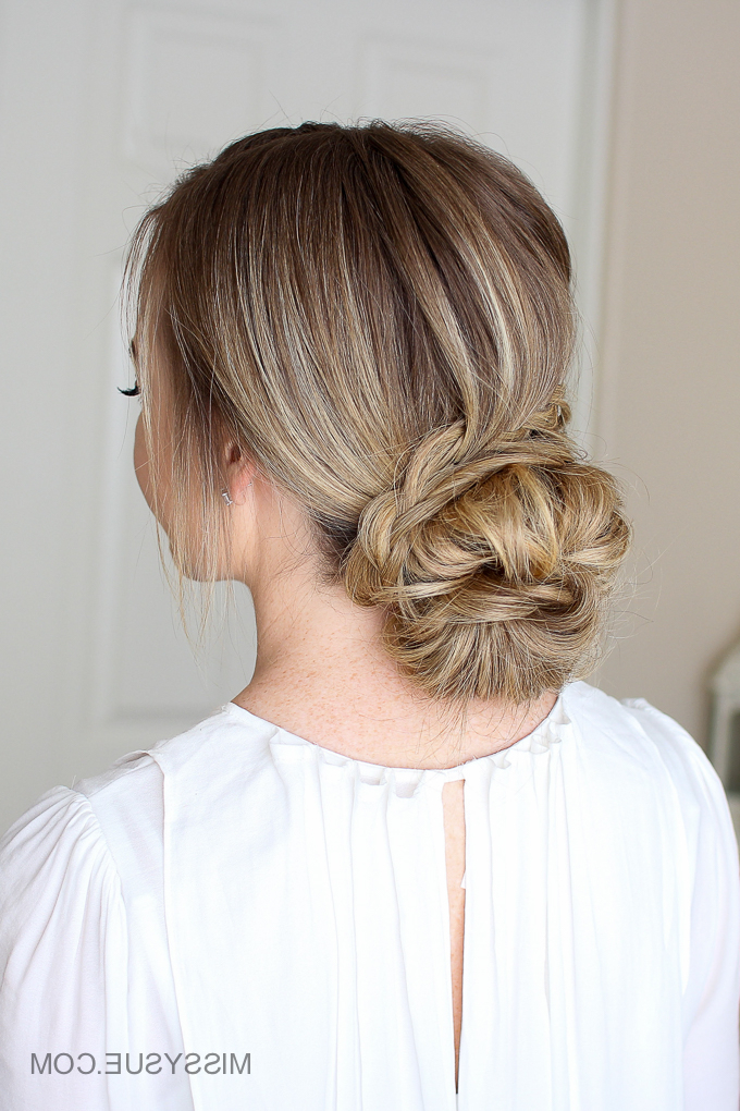 Looped Braid Low Bun | Missy Sue For Looped Low Bun Hairstyles (View 3 of 25)