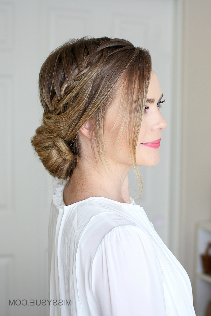 Looped Braid Low Bun | Missy Sue With Looped Low Bun Hairstyles (View 8 of 25)