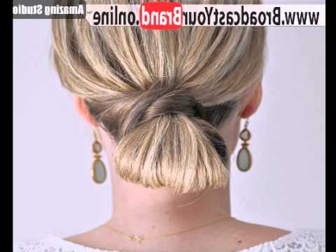 Looped Low Knot – Youtube With Regard To Looped Low Bun Hairstyles (View 4 of 25)