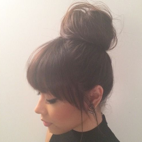 Love Long Hairstyles With Bangs? Wanna Give Your Hair A New Look Regarding Long Hairstyles Updos With Fringe (View 22 of 25)