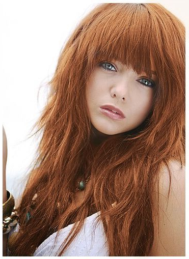 Lovely | Red Head In 2019 | Long Hair Styles, Shaggy Haircuts, Hair With Long Hairstyles With Full Fringe (View 13 of 25)