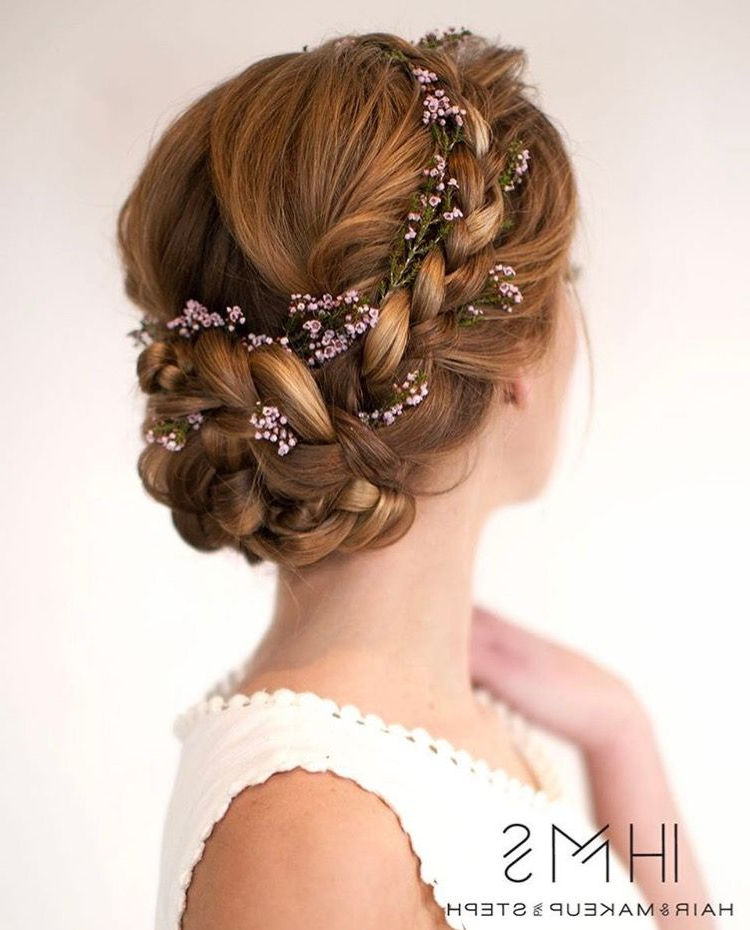Low Braided Flower Adorned Bun | Looking Good | Wedding Hairstyles Pertaining To Low Petal Like Bun Prom Hairstyles (View 5 of 25)