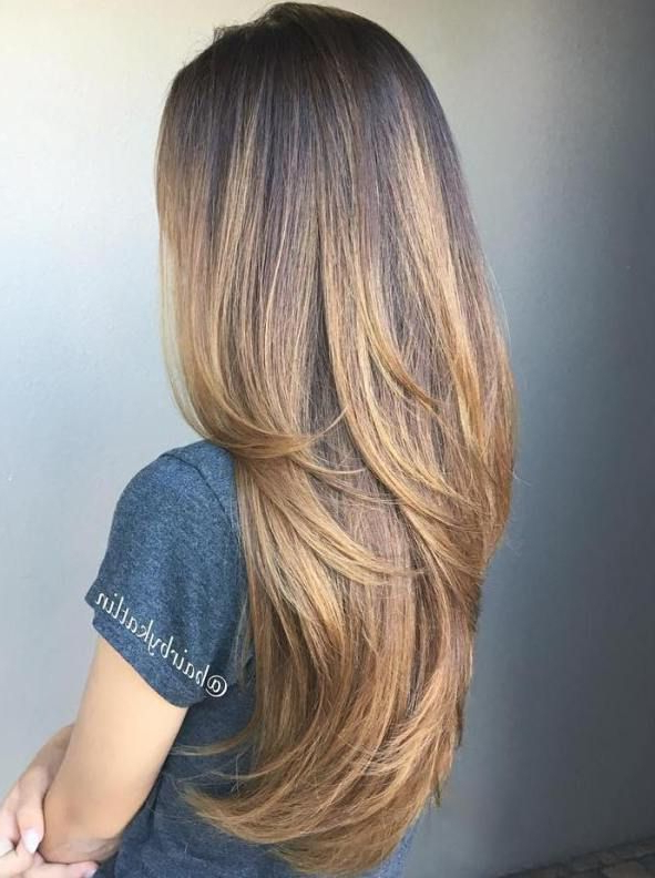 Low Maintenance Long Hairstyles | Long Layered Hair With Side Swept Regarding Long Hairstyles With Low Maintenance (View 18 of 25)