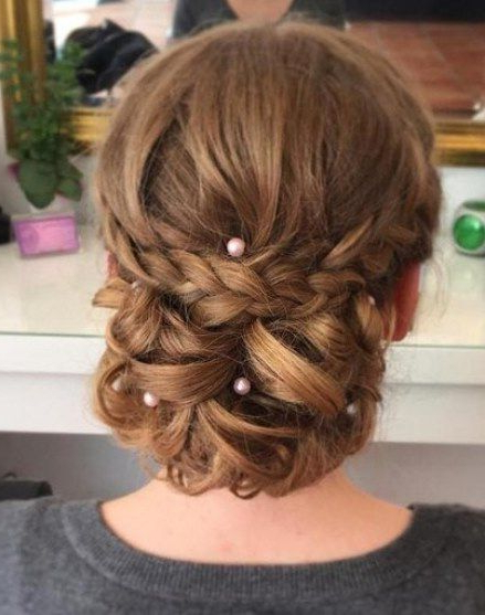Featured Photo of Low Pearled Prom Updos