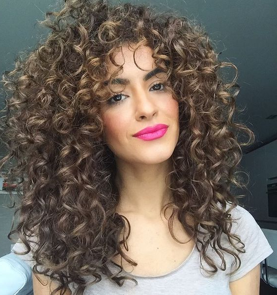 Mane Addicts Curly Hair Bangs From Pinterest That Are Way Cool In Curly Long Hairstyles With Bangs (View 25 of 25)