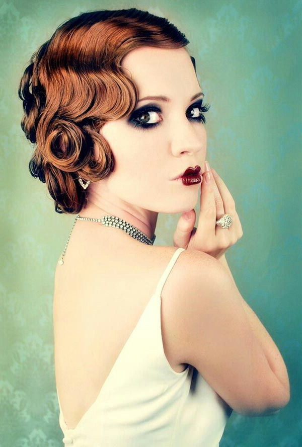 Marcel Waves And Finger Waves Hairstyles Of The 1920S | Just A Within Flapper Girl Long Hairstyles (View 15 of 25)