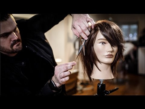 Medium Length Haircut Tutorial – Shag Haircut With Side Bangs | Matt For Medium Long Shaggy Hairstyles (View 25 of 25)