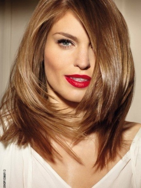 Medium Length Haircuts For Thick Hair Long Hairstyles For Oval Faces Inside Long Haircuts For Oval Faces And Thick Hair (View 14 of 25)