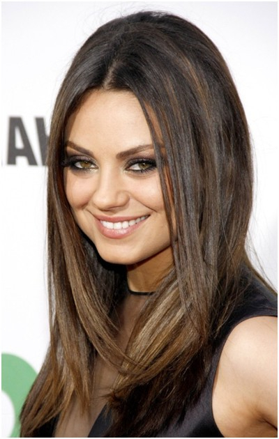 Medium, Straight Hairstyles Trends: Mila Kunis Hair – Popular Haircuts Pertaining To Mila Kunis Long Hairstyles (View 11 of 25)
