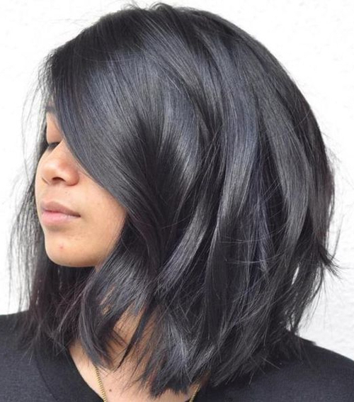 Medium Thick Layered Black Hairstyles 2018 For Women | Weekly Styles For Long Layered Black Hairstyles (View 24 of 25)
