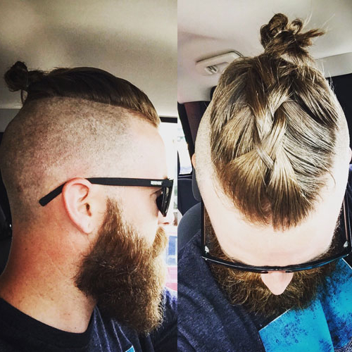 Men's Top Knot Hairstyles | Men's Hairstyles + Haircuts 2019 Throughout Long Hairstyles Knot (View 6 of 25)