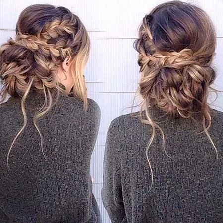 Messy Braided Updo Hairstyles 500049947 – Braid Hairstyles 2017 Pertaining To Messy Braided Prom Updos (View 22 of 25)