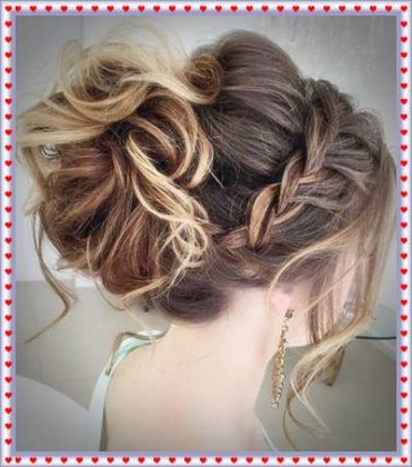 Messy Bun Hairstyle For Prom With Regard To Messy Bun Prom Hairstyles With Long Side Pieces (View 2 of 25)