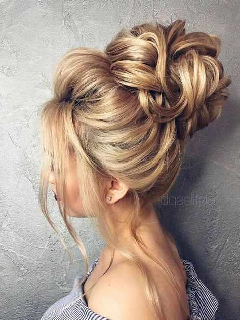 Messy Bun Hairstyle For Prom Within Messy High Bun Prom Updos (View 6 of 25)