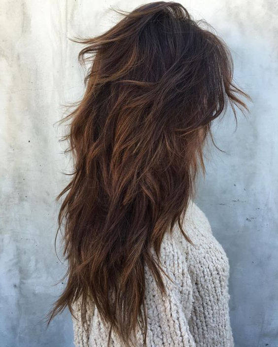Messy Layers On Ombre Dark Hair Look Chic | Dark | Hair, Hair Cuts Throughout Messy Long Haircuts (View 2 of 25)