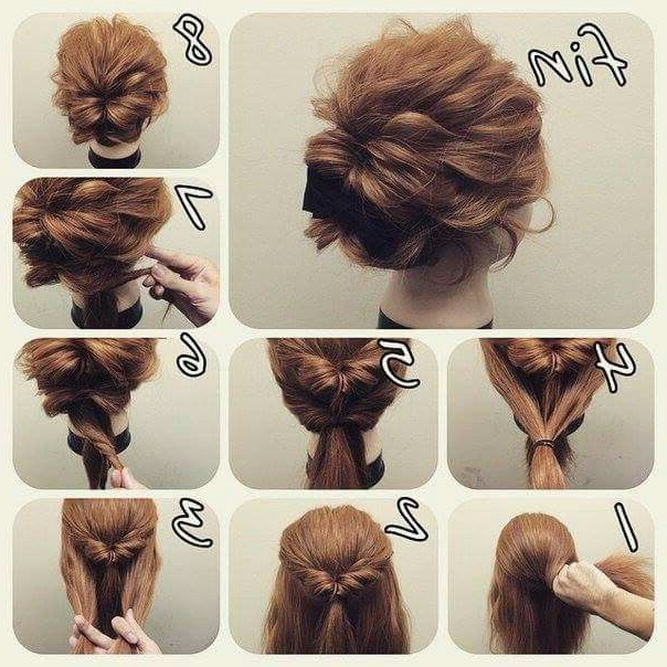 Messy Look Bun Which Might Hold My Thick/layered Hair In Intended For Casual Updos For Long Thick Hair (View 6 of 25)