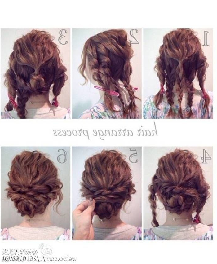 Messy Updo | Hair Pictorial In 2019 | Curly Hair Styles, Hair Styles Regarding Easy Curled Prom Updos (View 5 of 25)
