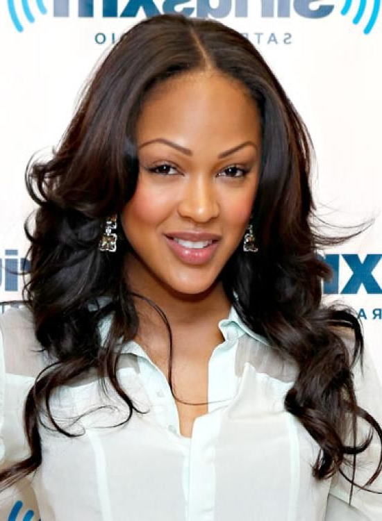 Middle Part Weave Hairstyles | Good Hairstyle Short Medium Long With Regard To Meagan Good Long Hairstyles (View 3 of 25)