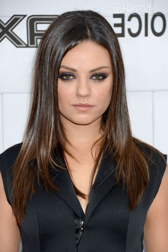Mila Kunis Hairstyles | Hairstylo Intended For Mila Kunis Long Hairstyles (View 8 of 25)