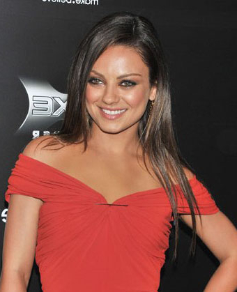 Mila Kunis' Long Straight Hairstyle Intended For Mila Kunis Long Hairstyles (View 20 of 25)