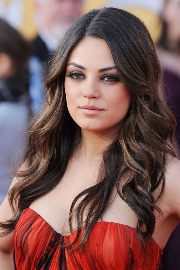 Mila Kunis Long Wavy Lace Front Wigs Human Hair 20 Inches: Wigsbuy With Mila Kunis Long Hairstyles (View 22 of 25)