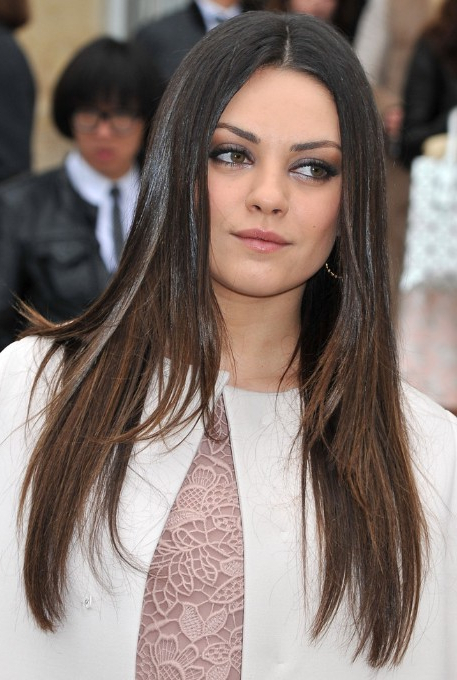Mila Kunis, Ombre Long Hairstyles For Straight Hair – Popular Haircuts Regarding Mila Kunis Long Hairstyles (View 3 of 25)
