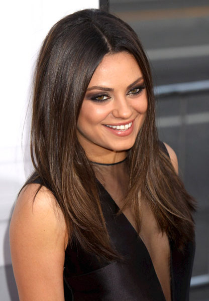 Mila Kunis Prom Hairstyle Idea – Prom Fashion Guide Intended For Mila Kunis Long Hairstyles (View 19 of 25)