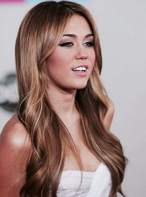 Miley Cyrus Long Hairstyles 2017 | The Hair | Miley Cyrus Brown Hair In Miley Cyrus Long Hairstyles (View 5 of 25)