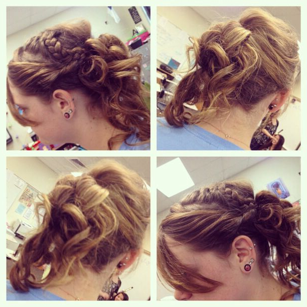 Mixed Braid And Loose Side Bun For Prom (View 16 of 25)
