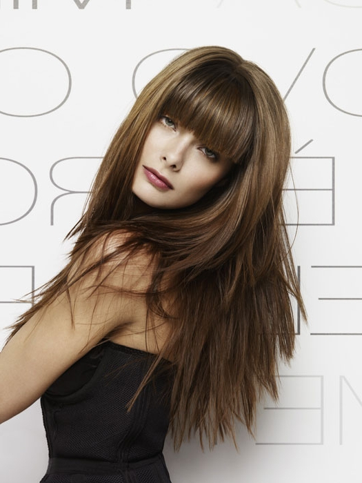 Modern Long Hairstyles With Bangs| With Modern Long Hairstyles (View 14 of 25)