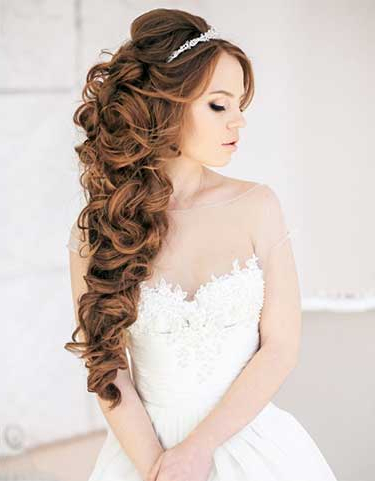 Most Wanted Wedding Hairstyles For Long Hair With Long Cascading Curls Prom Hairstyles (View 19 of 25)