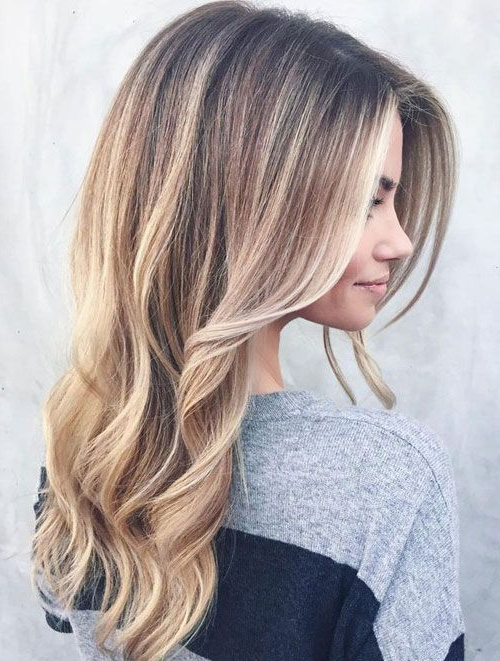 Natural Blonde Balayage Hairstyles Ideas For Long Hair | Presley Intended For Long Hairstyles Natural (View 25 of 25)