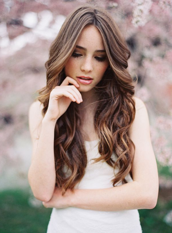 Natural Wedding Hair Ideas | Coif | Natural Wedding Hairstyles With Wavy Curly Long Hairstyles (View 11 of 25)