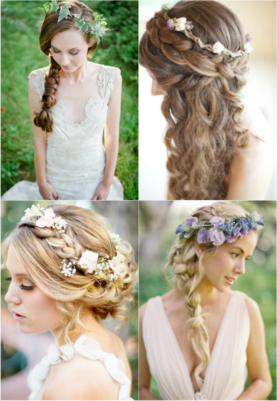 Newest Braid Hairstyles For Your Wedding Day On We Heart It Throughout Floral Braid Crowns Hairstyles For Prom (View 17 of 25)