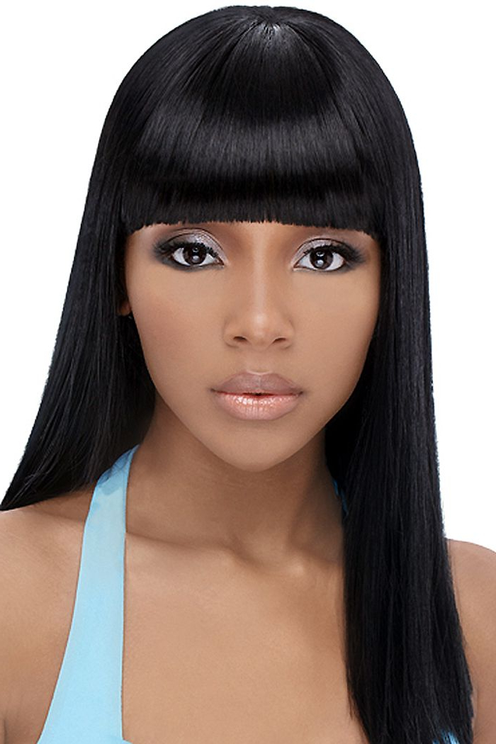 Nice Popular Black Teenage Hairstyles 2017 With Fringe | Hairstyles throughout African American Long Hairstyles With Bangs