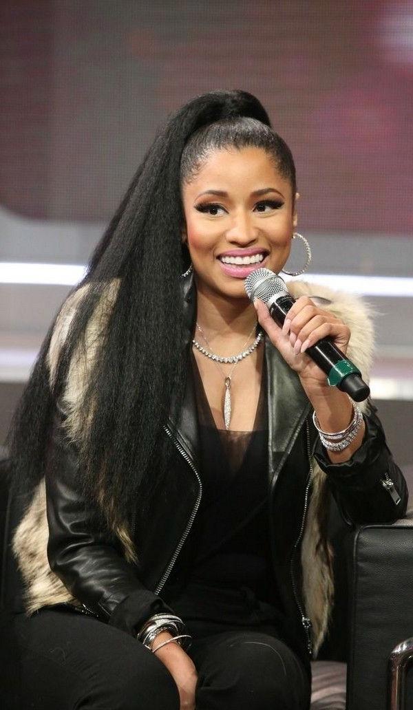 Nicki Minaj Loose Ponytail Hairstyle For Long Hair | Next Beauty within Nicki Minaj Long Hairstyles