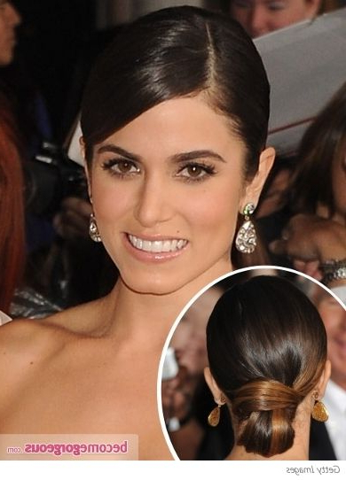 Nikki Reed's Looped Low Bun Hairstyle | Lets Get Gorg | Hair, Hair Pertaining To Looped Low Bun Hairstyles (View 9 of 25)