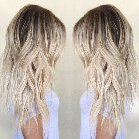 Ombre, Balayage Hairstyles For Women, Girls – Wavy Hair Cuts For Regarding Medium Long Haircuts (View 19 of 25)