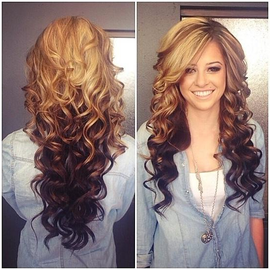 Ombre Curls – Long Hairstyles How To within Long Hairstyles Curls