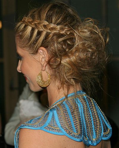 On-Scalp Plait Into A Messy Bun | Unit 105 - Plaits And Twists in Jewelled Basket-Weave Prom Updos