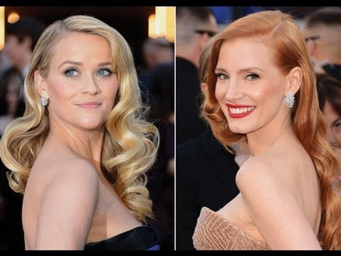 Oscars Hair | Red Carpet Hair & How To Get Vintage Hollywood Glam regarding Old Hollywood Long Hairstyles