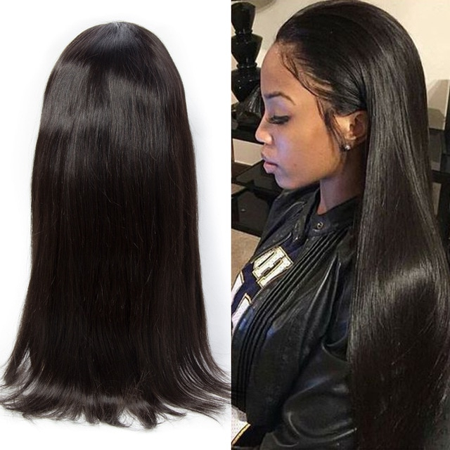 Peruvian Hair Lace Front Human Hair Wigs Straight Virgin Peruvian With Regard To Long Virgin Hairstyles (View 8 of 25)